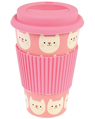 Rex London Bamboo Travel Mug 400 ml, Cookie the Cat - Original and Eco-Friendly Cups & Beakers