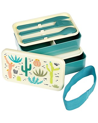 Rex London Bento Box, Desert in Bloom - BPA free! Snack and Formula Containers
