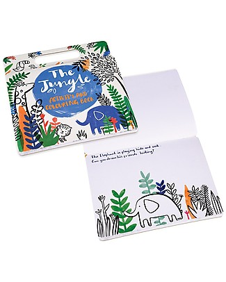 Rex London Colouring and Activity Book, Jungle Animals - Great Gift Idea! Colouring Activities