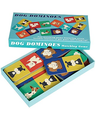 Rex London Dog Dominoes, Contains 28 Dogs Cardboards - Great gift idea! Traditional Toys