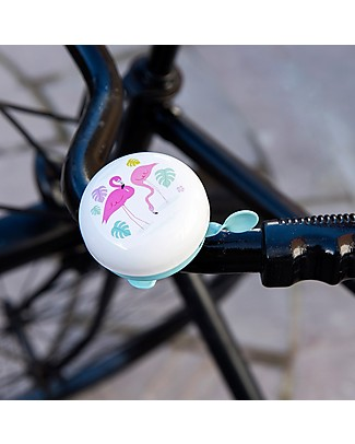 Rex London Flamingo Bay Bicycle Bell – Metal Outdoor Games & Toys