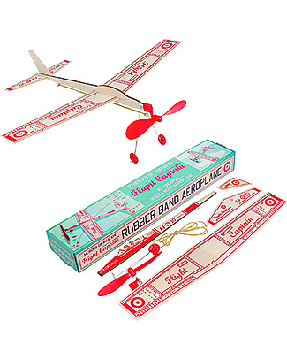 Rex London Flight Captain Rubber Band Aeroplane Traditional Toys