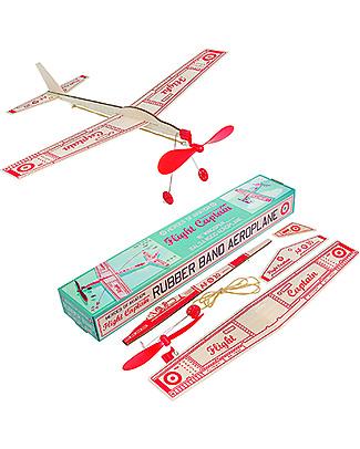 Rex London Flight Captain Rubber Band Aeroplane Traditional Toys