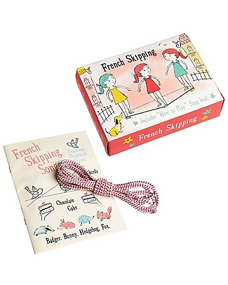 Rex London French Skipping Set - Includes elastic rope and songs' booklet  Outdoor Games & Toys