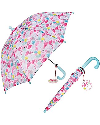 Rex London Girl's Umbrella, Pink Flamingo Umbrellas