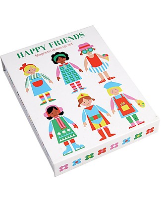Rex London Happy Friends, Magnetic Dress Up Set - Characters to Dress! Traditional Toys