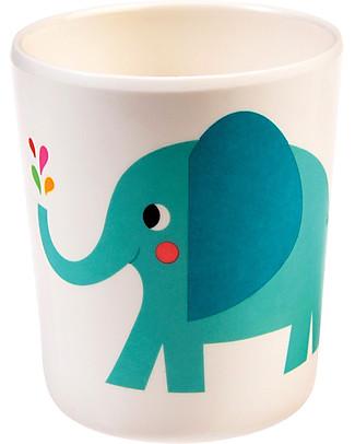 Rex London Kids Beaker, Elvis the Elephant - Free from BPA, PVC, phthalates and lead! Cups & Beakers