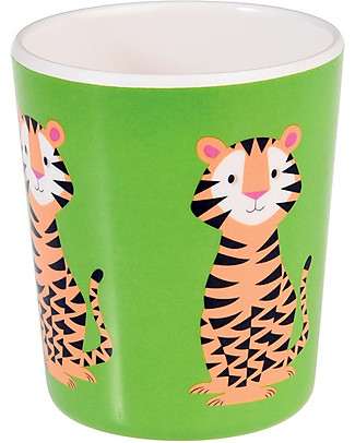 Rex London Kids Beaker, Tiger - Free from BPA, PVC, phthalates and lead! Cups & Beakers
