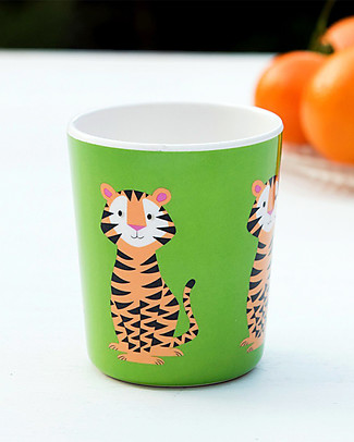 Rex London Kids Beaker, Tiger - Free from BPA, PVC, phthalates and lead! null