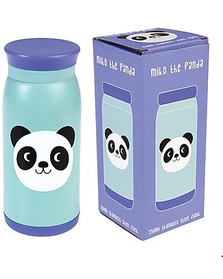 Rex London Kids Flask 350 ml, Miko the Panda - Stainless Steel Thermos Bottles