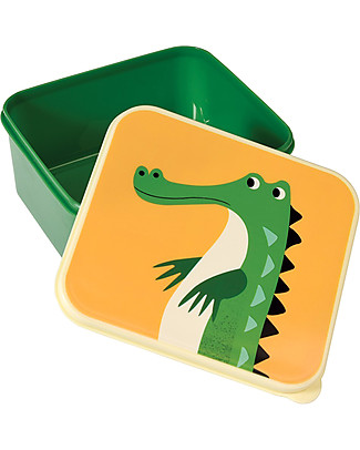 Rex London Lunch Box, Crocodile - BPA free! Lunch Boxes in Metal