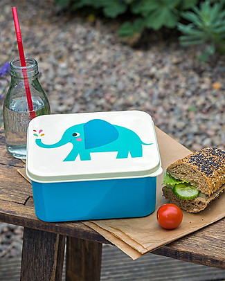 Rex London Lunch Box, Elvis the Elephant - BPA free! Snack and Formula Containers
