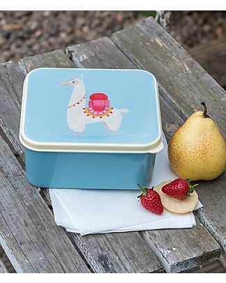 Rex London Lunch Box, Llama13.5x15x7 - Original and BPA free! Snack and Formula Containers