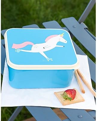 Rex London Lunch Box, Magical Unicorn 13,5x15x7 cm - BPA free! null