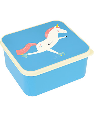 Rex London Lunch Box, Magical Unicorn 13,5x15x7 cm - BPA free! Snack and Formula Containers
