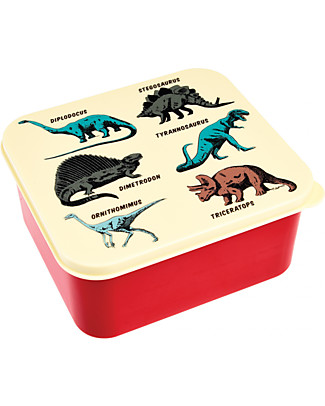 Rex London Lunch Box, Prehistoric Land 13,5x15x7 cm - Colorful and BPA free!  Snack and Formula Containers