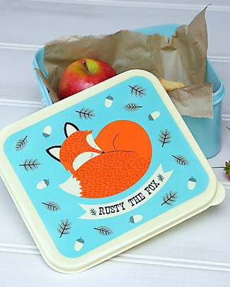 Rex London Lunch Box, Rusty the Fox - BPA free! Lunch Boxes in Metal