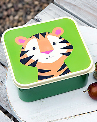 Rex London Lunch Box, Tiger - BPA free! Lunch Boxes in Metal