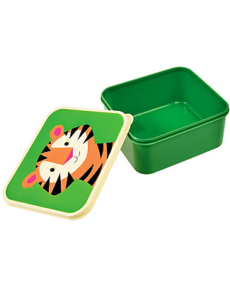 Rex London Lunch Box, Tiger - BPA free! Snack and Formula Containers