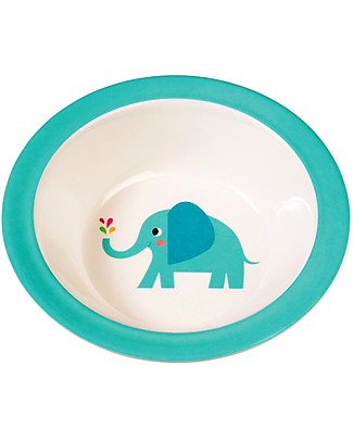 Rex London Melamine Baby Bowl, Elvis the Elephant - Free from BPA, PVC, phthalates and lead! Bowls & Plates
