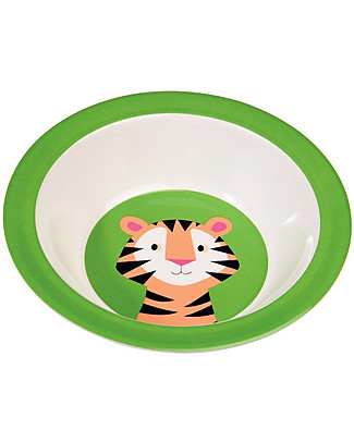 Rex London Melamine Baby Bowl, Tiger - Free from BPA, PVC, phthalates and lead! Egg Cups & Measuring Cups