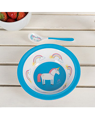 Rex London Melamine Baby Bowl, Unicorn - Free from BPA, PVC, phthalates and lead! Bowls & Plates