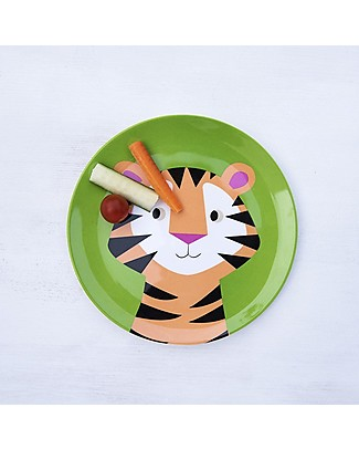 Rex London Melamine Baby Plate, Tiger - Free from BPA, PVC, phthalates and lead! Bowls & Plates