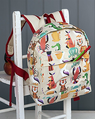 Rex London Mini Backpack 28 x 21 x 10 cm, Colourful Creatures - Perfect for pre-schoolers! Small Backpacks