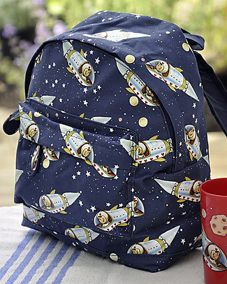 Rex London Mini Backpack 28 x 21 x 10 cm, Spaceboy - Perfect for pre-schoolers! Small Backpacks