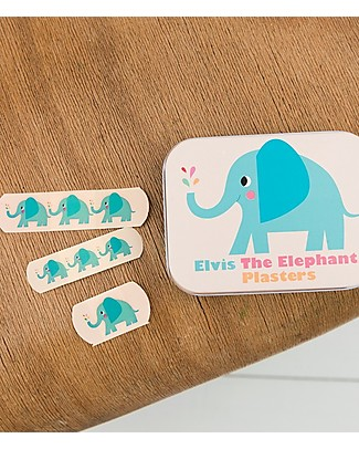 Rex London Plasters in Tin, Elvin the Elephant - Pack of 30 Plasters