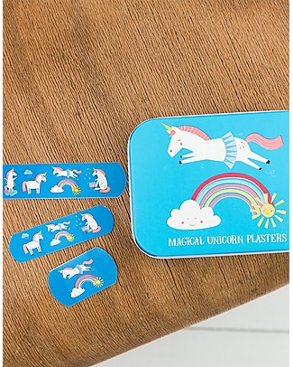 Rex London Plasters in Tin, Magical Unicorn - Pack of 30 Plasters