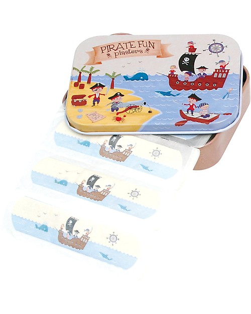 Rex London Plasters in Tin, Pirates - Pack of 30 Plasters