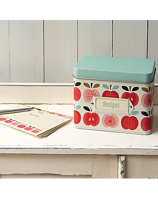 Rex London Recipes Tin, Vintage Apple Kitchen accessories