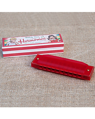 Rex London Red Harmonica in Vintage Gift Box – Great gift idea Musical Instruments