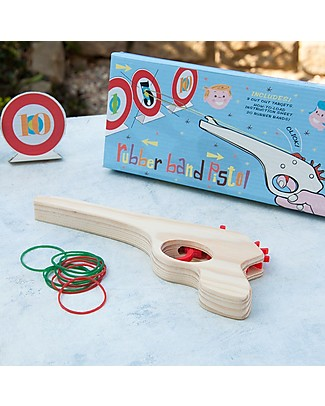 Rex London Rubber Band Pistol – Complete with targets! Traditional Toys
