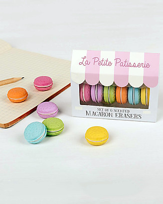 Rex London Scented Macaron Erasers, Set of 6 - Great as a gift idea for school! null