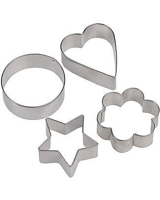 Rex London Set of 4 Shaped Cookied Cutters Cake Decorations