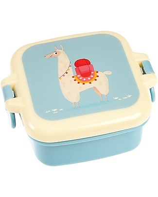 Rex London Snack Pot, Llama 9x7x3.9 cm - BPA free! Snack and Formula Containers
