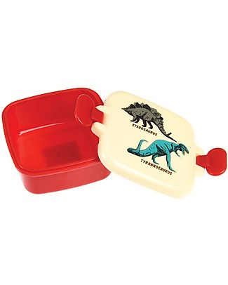 Rex London Snack Pot, Prehistoric Land 9x7x3.9 cm - BPA free!  Snack and Formula Containers