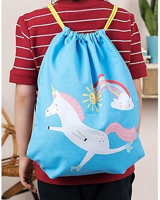 Rex London Soft Cotton Drawstring Bag 37 x 31 cm, Magical Unicorn - Perfect for pre-schoolers! null