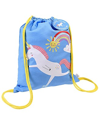 Rex London Soft Cotton Drawstring Bag 37 x 31 cm, Magical Unicorn - Perfect for pre-schoolers! Small Backpacks