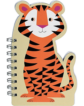 Rex London Spiral Notebook with Blank Pages, Tiger - Great gift idea! Colouring Activities