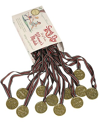 Rex London Sports Day Winner Medals, Set of 12 - Great for outdoor games and contests! Outdoor Games & Toys