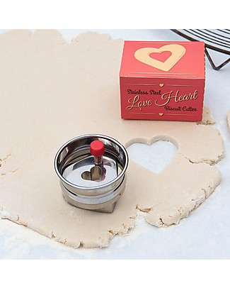 Rex London Spring-loaded Biscuit Cutter, Love Heart Cake Decorations
