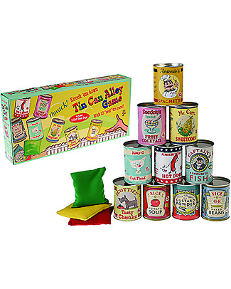 Rex London Tin Can Alley Game - Ideal for parties! Traditional Toys