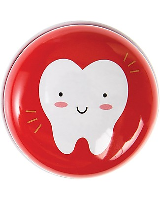 Rex London Tooth Fairy Tin, Red Party Favours