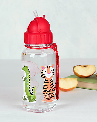 Rex London Water Bottle 500 ml, Colourful Creatures - BPA-free! BPA-Free Bottles