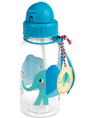 Rex London Water Bottle 500 ml, Elvis the Elephant - BPA-free! BPA-Free Bottles