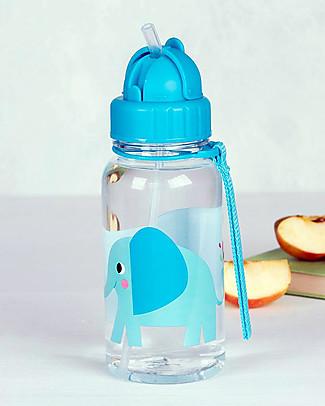 Rex London Water Bottle 500 ml, Elvis the Elephant - BPA-free! null