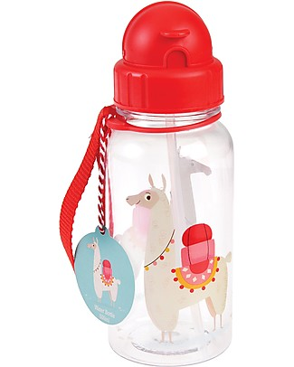 Rex London Water Bottle 500 ml, Llama - BPA-free! BPA-Free Bottles